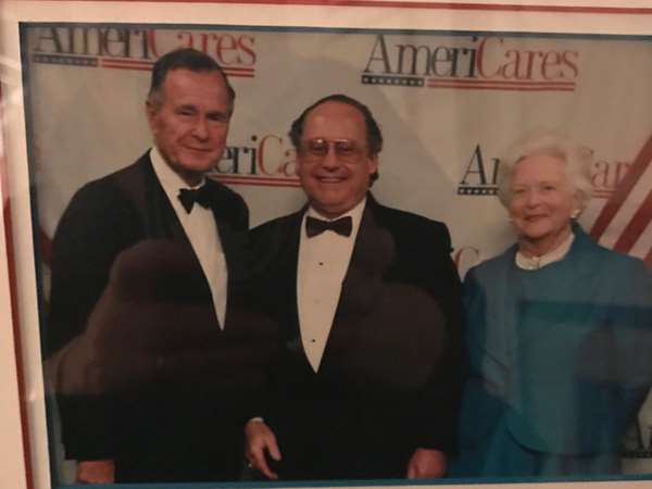 Me with President George H.W. Bush and Barbara Bush for Americares